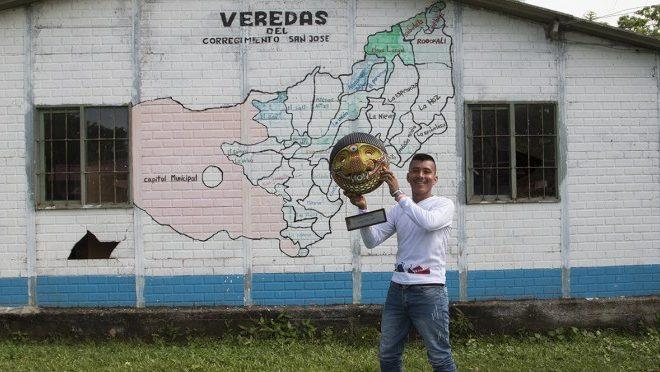 Germán Graciano von der Friedensgemeinde von San José de Apartadó, Kolumbien, ist Menschenrechtsverteidiger des Jahres 2018!*