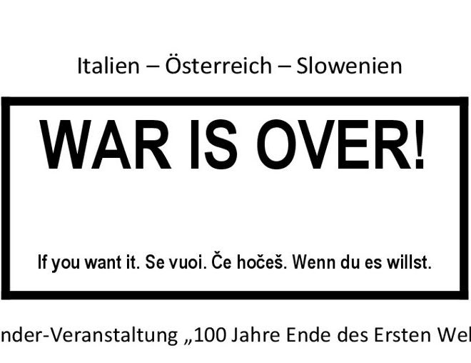 War is over, if you want it!
