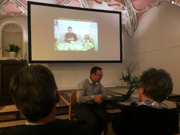 Johannes Zang bei seinem Vortrag in Steyr