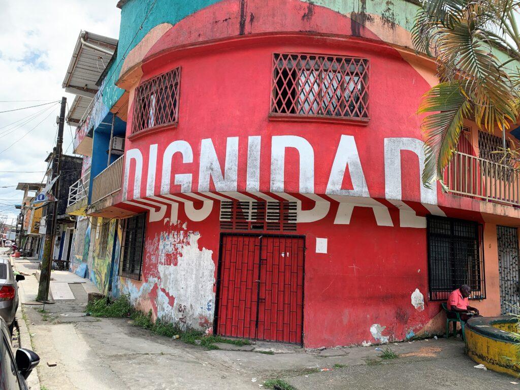 DIGNIDAD Mural in Buenaventura